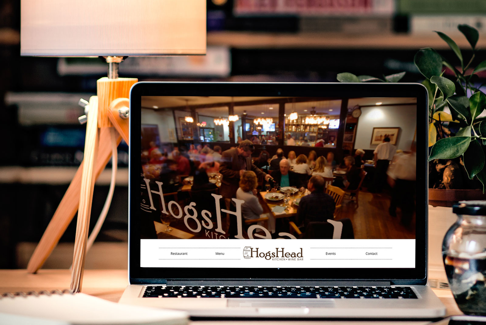 Hogs Head Kitchen And Wine Bar - Simple Restaurant Website Design